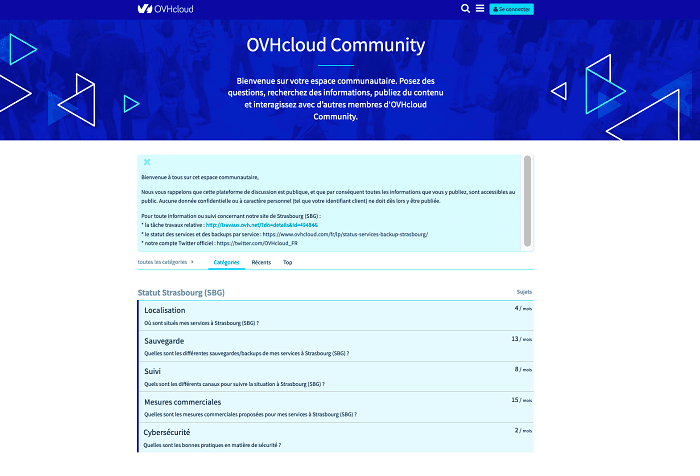 OVHcloud Community