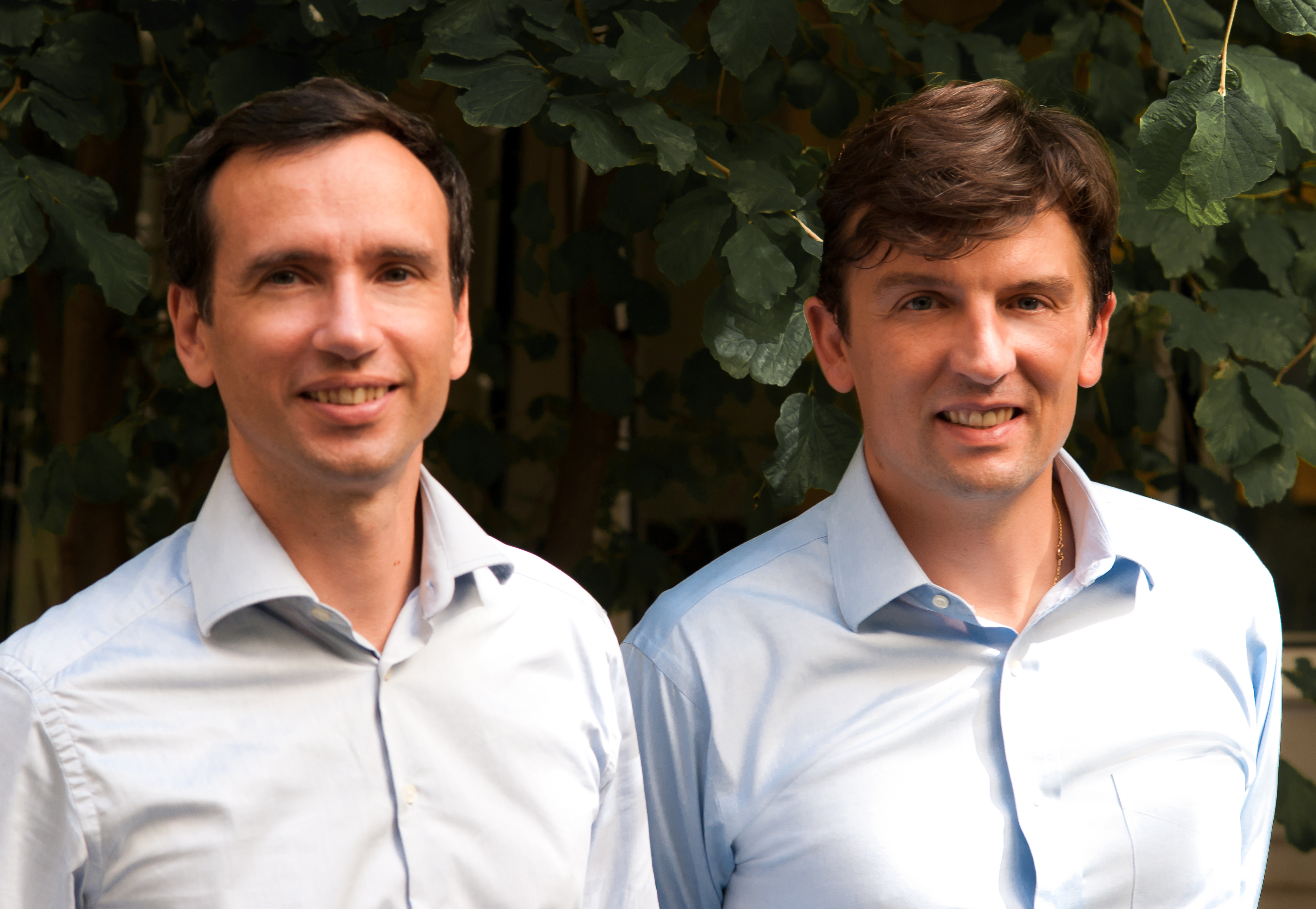 The founders of the French startup Wimi: Antoine Duboscqet and Lionel Roux