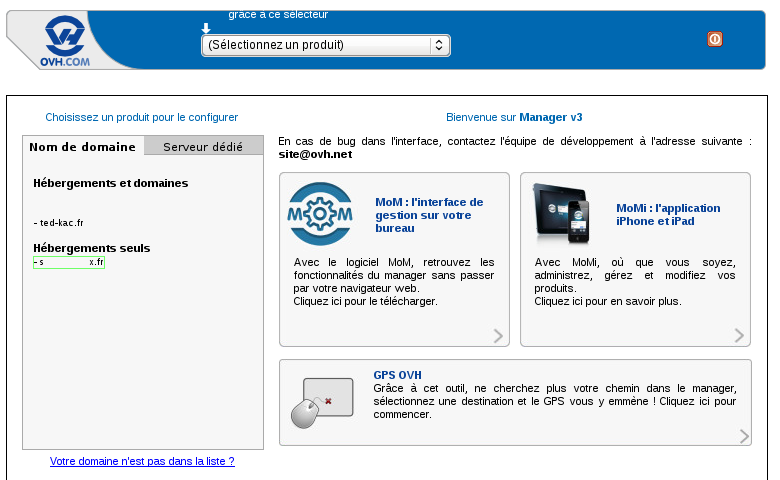 Guide ovh cpanel web